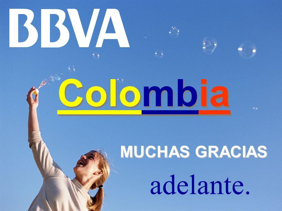 adelante. MUCHAS GRACIAS Colombia