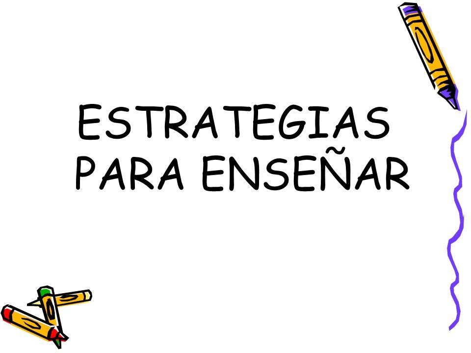 ESTRATEGIAS PARA ENSEÑAR