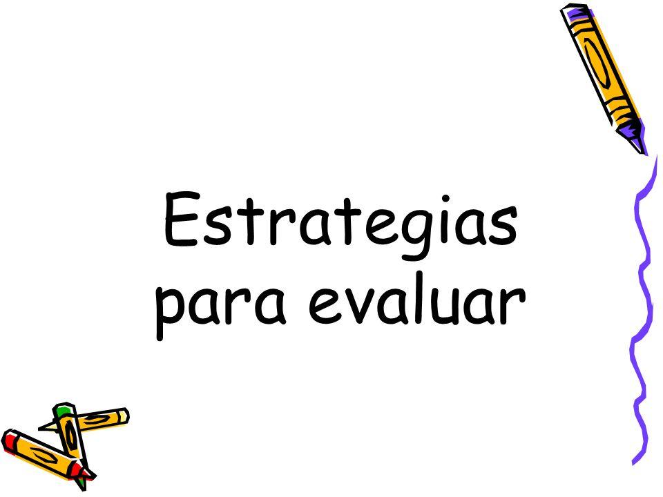 Estrategias para evaluar