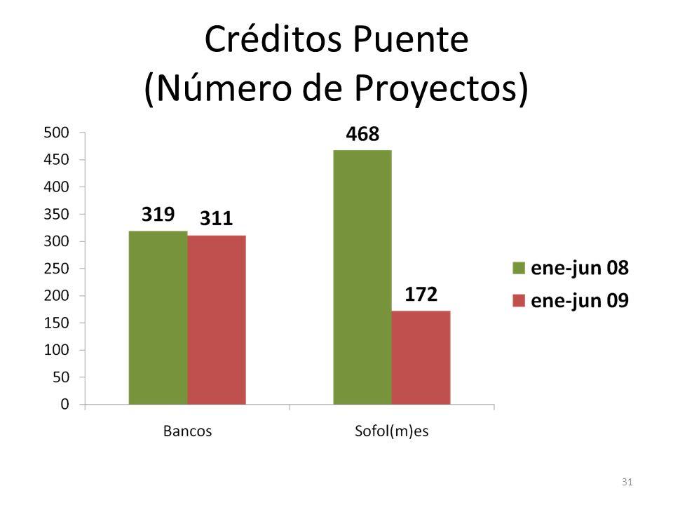 Créditos Puente (Número de Proyectos) 31