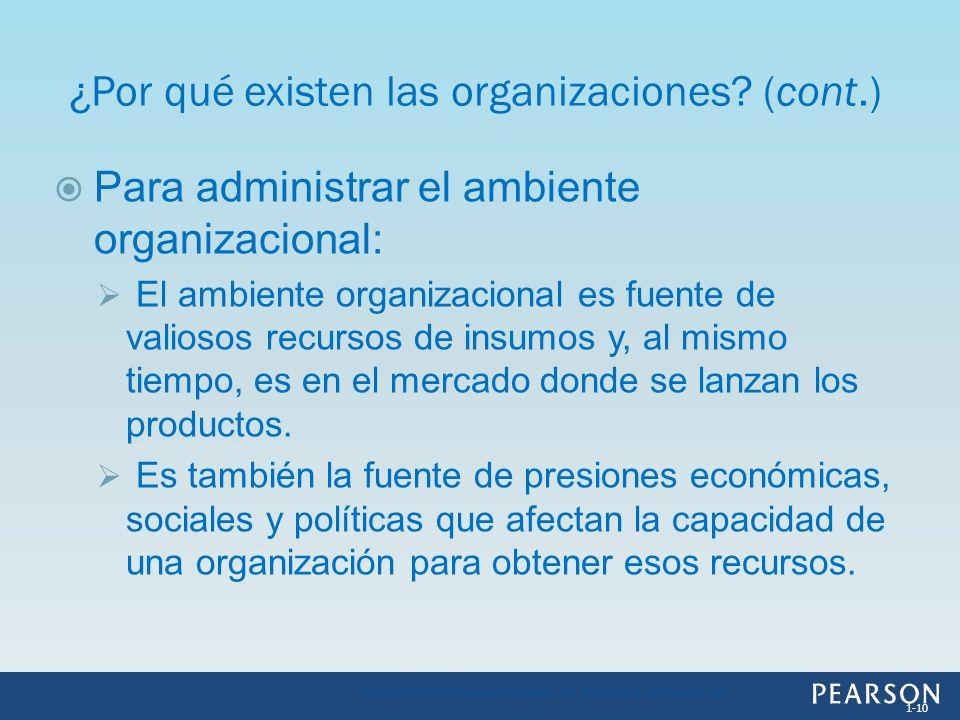 Para administrar el ambiente organizacional: El ambiente organizacional es fuente de valiosos recursos de insumos y, al mismo tiempo, es en el mercado