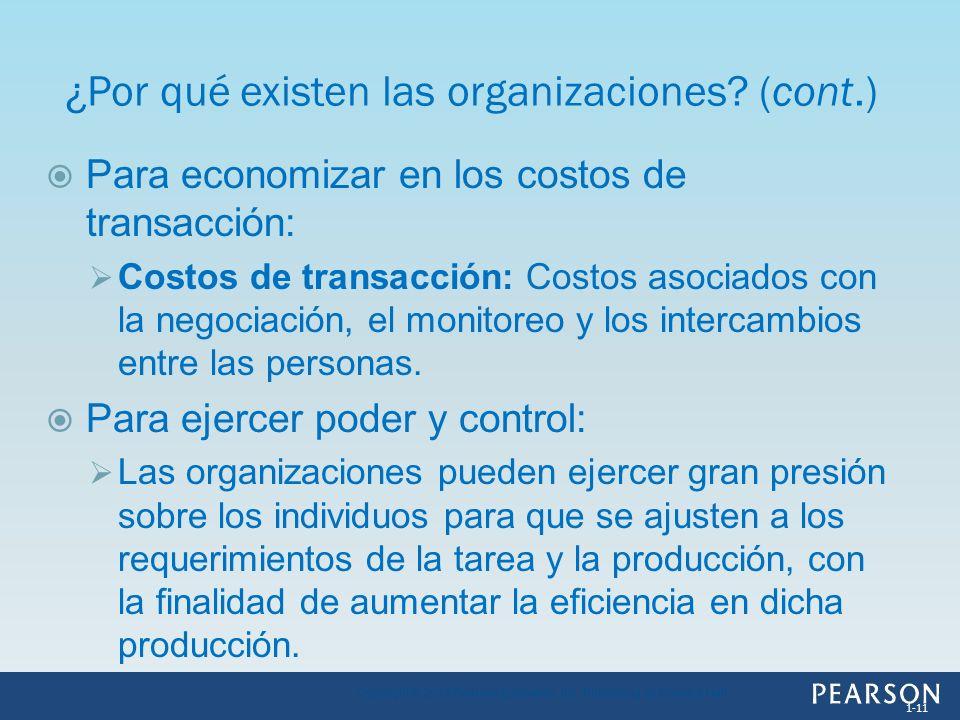 Para economizar en los costos de transacción: Costos de transacción: Costos asociados con la negociación, el monitoreo y los intercambios entre las pe
