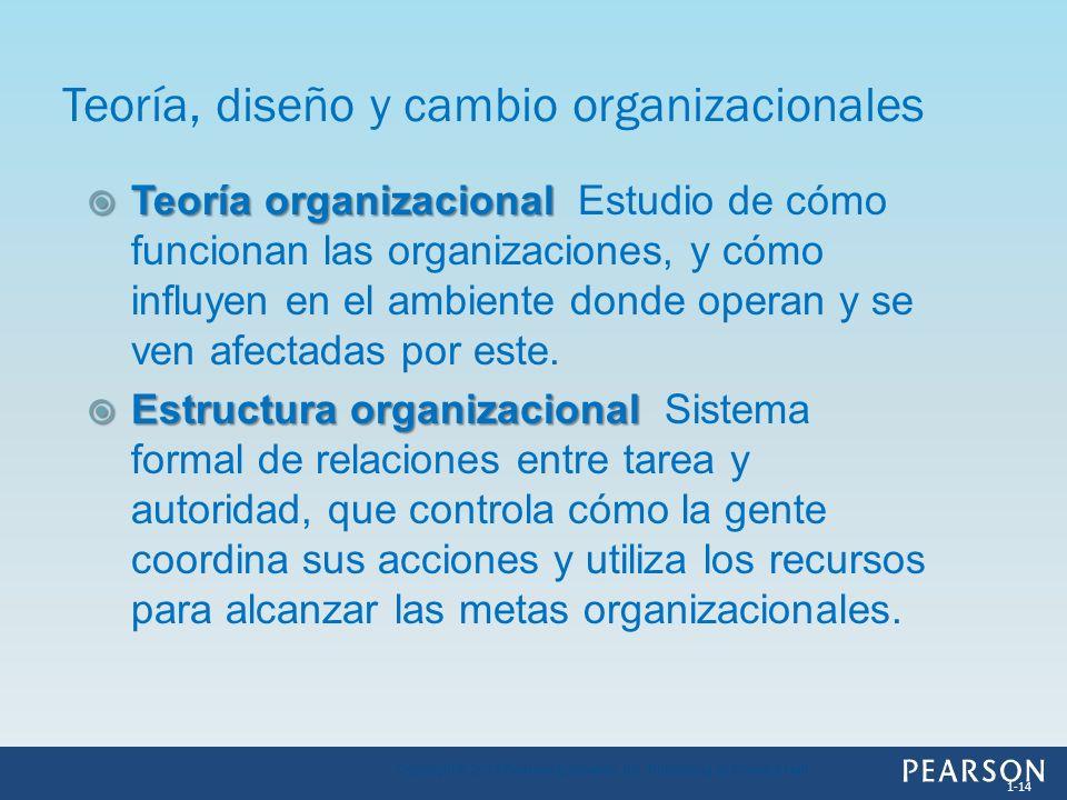 Teoría organizacional Teoría organizacional Estudio de cómo funcionan las organizaciones, y cómo influyen en el ambiente donde operan y se ven afectad