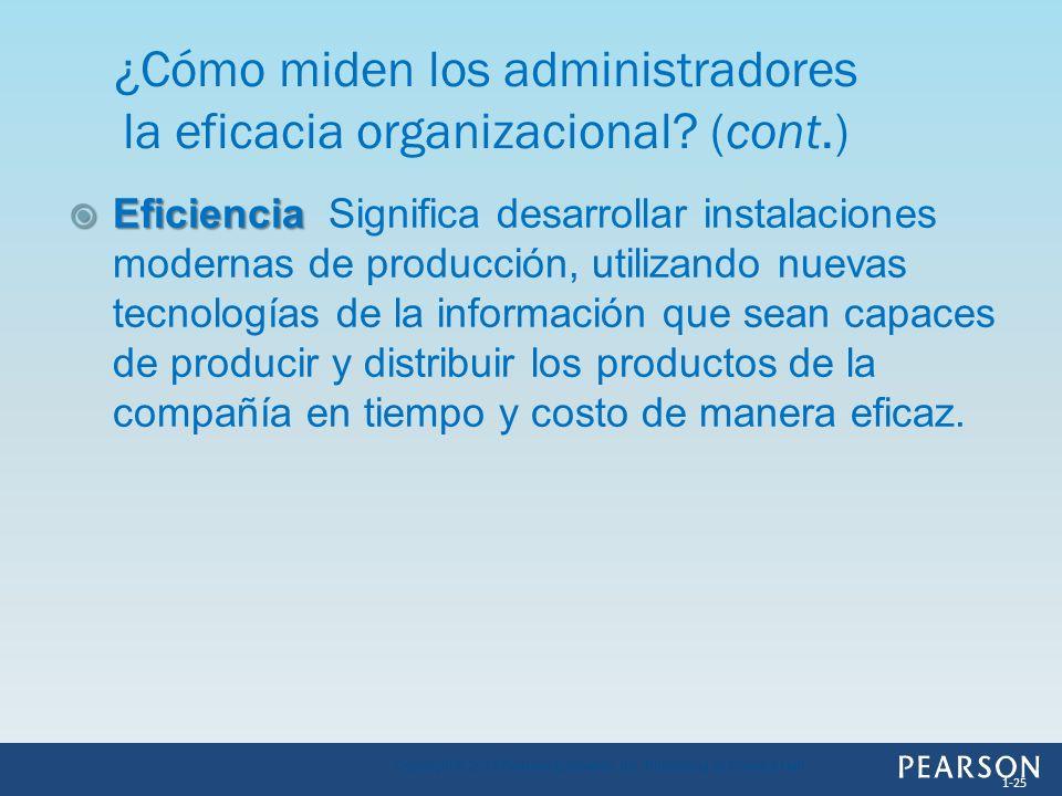 Eficiencia Eficiencia Significa desarrollar instalaciones modernas de producción, utilizando nuevas tecnologías de la información que sean capaces de
