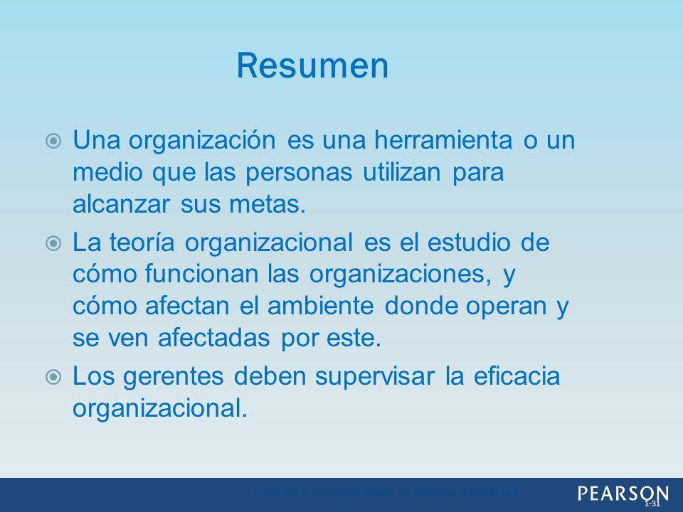 Una organización es una herramienta o un medio que las personas utilizan para alcanzar sus metas. La teoría organizacional es el estudio de cómo funci