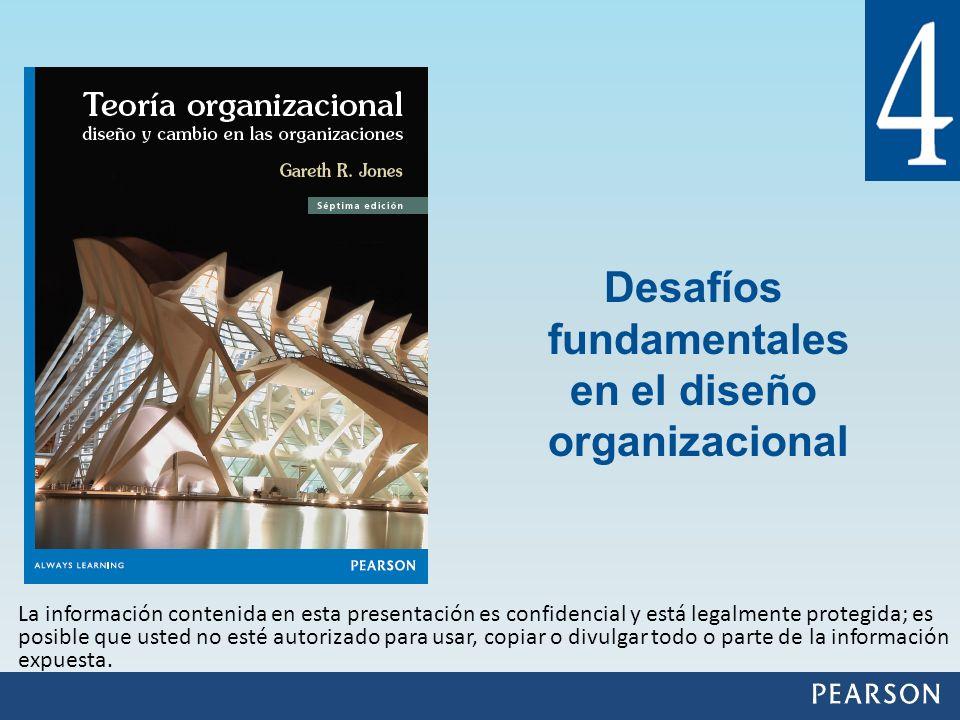 Describir los cuatro desafíos fundamentales del diseño organizacional, a los cuales se enfrentan los gerentes y consultores.