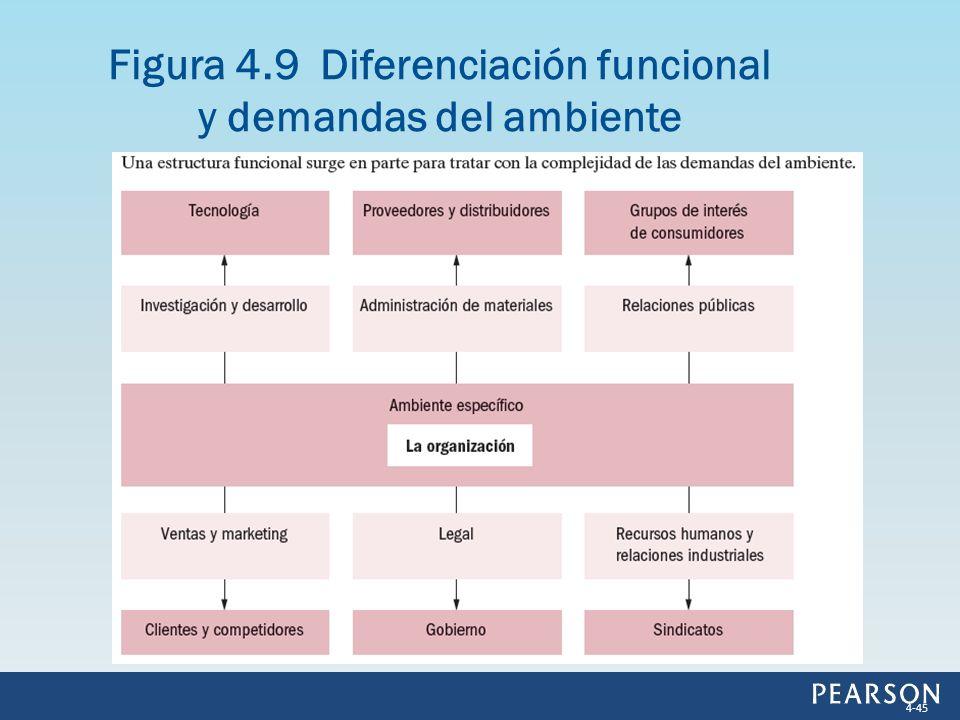 Figura 4.9 Diferenciación funcional y demandas del ambiente 4-45