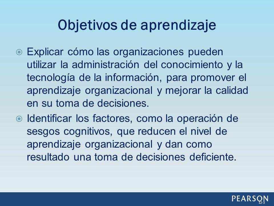 Explicar cómo las organizaciones pueden utilizar la administración del conocimiento y la tecnología de la información, para promover el aprendizaje or
