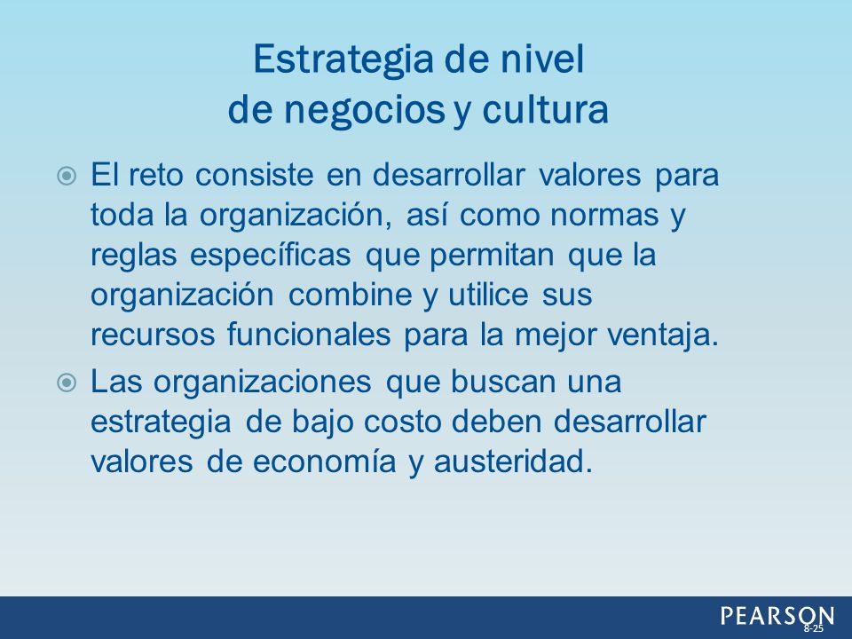 El reto consiste en desarrollar valores para toda la organización, así como normas y reglas específicas que permitan que la organización combine y uti