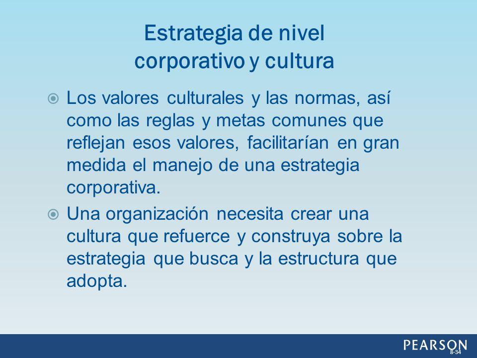 Los valores culturales y las normas, así como las reglas y metas comunes que reflejan esos valores, facilitarían en gran medida el manejo de una estra