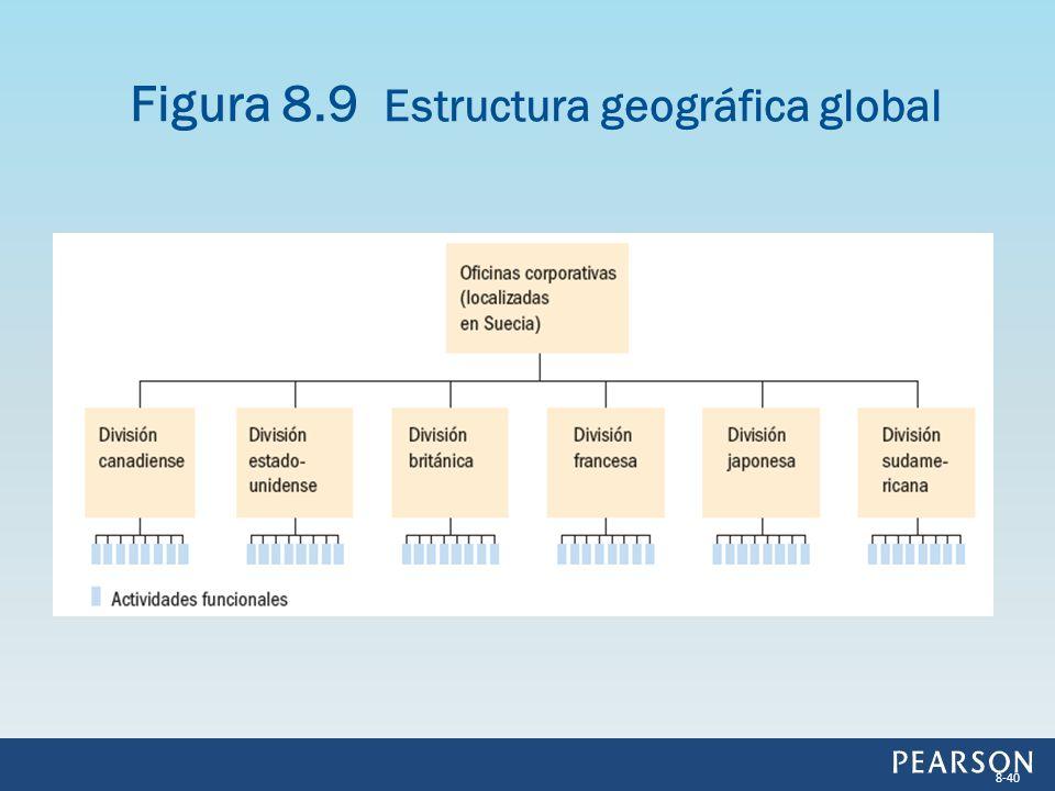 Figura 8.9 Estructura geográfica global 8-40