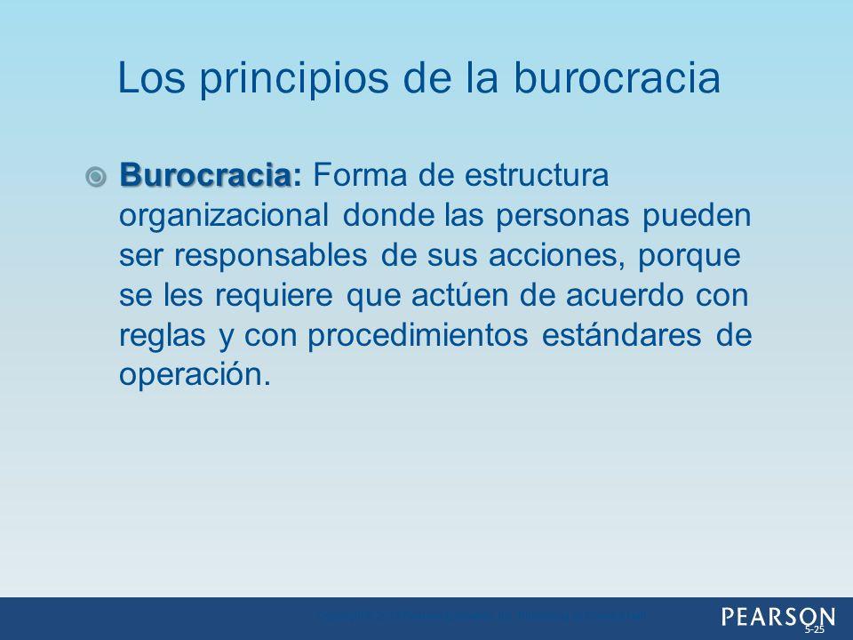 Burocracia Burocracia: Forma de estructura organizacional donde las personas pueden ser responsables de sus acciones, porque se les requiere que actúe