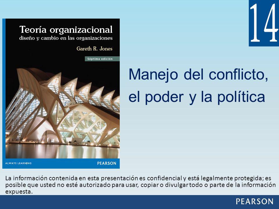 Manejo del conflicto, el poder y la política La información contenida en esta presentación es confidencial y está legalmente protegida; es posible que