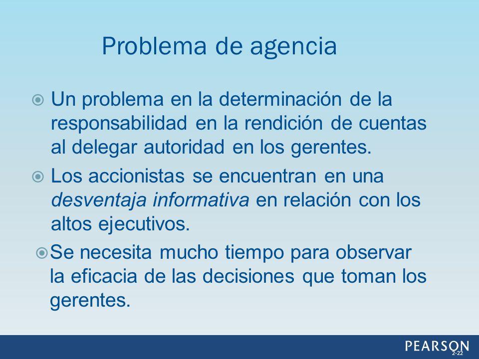 Un problema en la determinación de la responsabilidad en la rendición de cuentas al delegar autoridad en los gerentes. Los accionistas se encuentran e