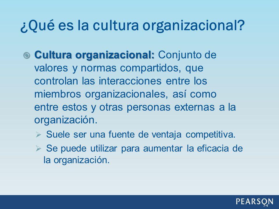 Cultura organizacional: Cultura organizacional: Conjunto de valores y normas compartidos, que controlan las interacciones entre los miembros organizac