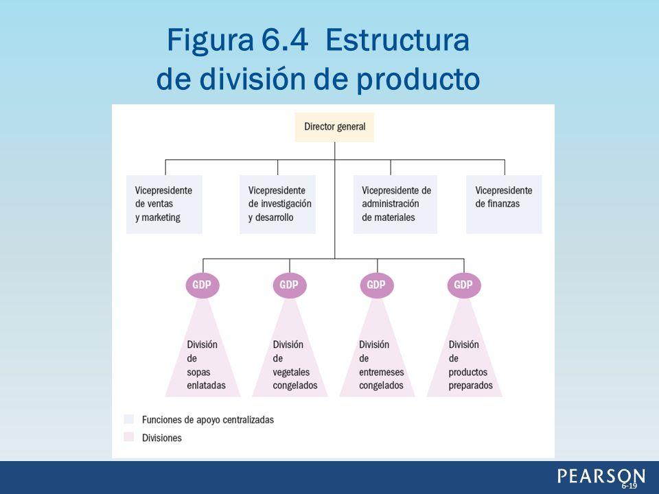 Figura 6.4 Estructura de división de producto 6-19