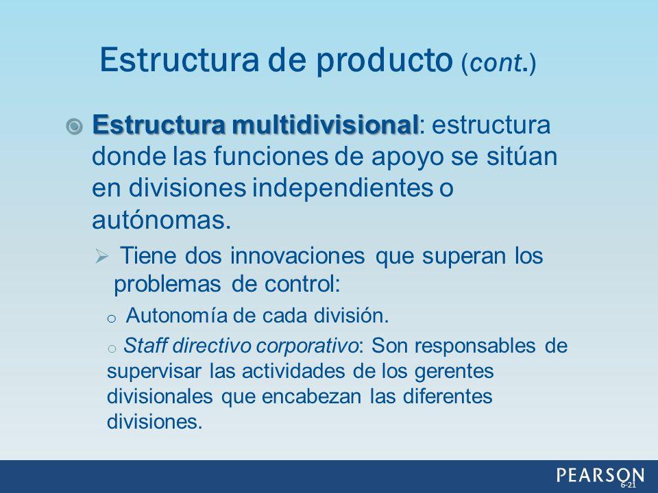 Estructura multidivisional Estructura multidivisional: estructura donde las funciones de apoyo se sitúan en divisiones independientes o autónomas. Tie