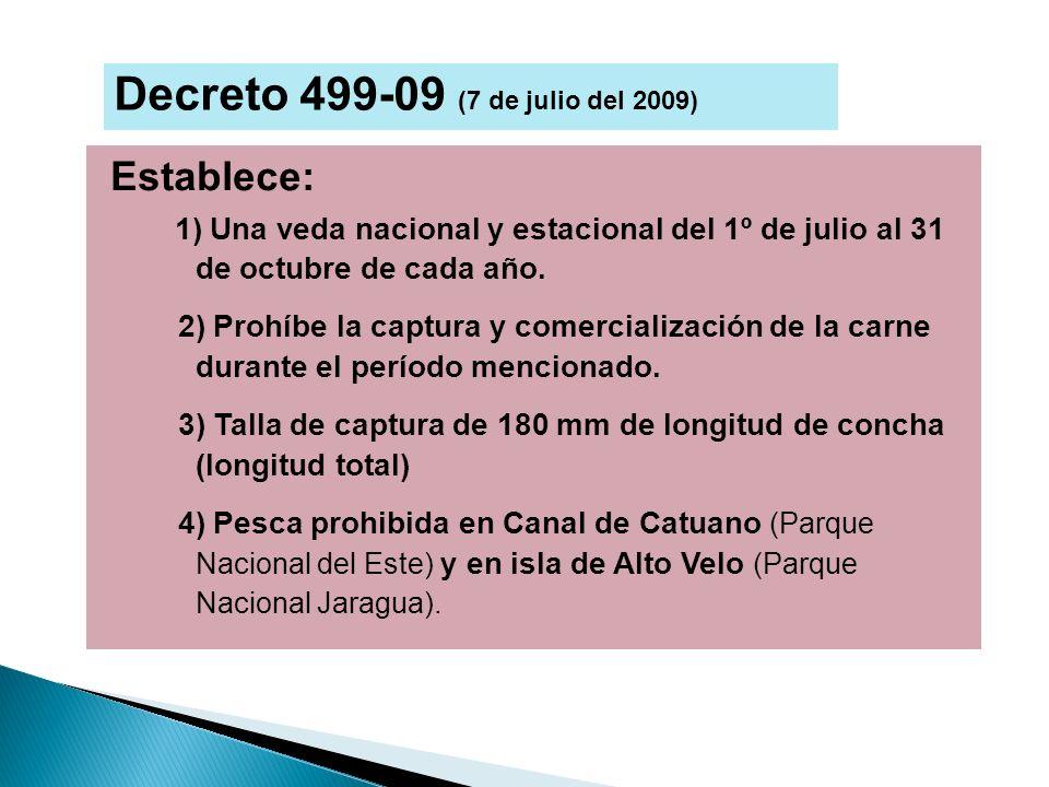 Establece: 1) Una veda nacional y estacional del 1º de julio al 31 de octubre de cada año. 2) Prohíbe la captura y comercialización de la carne durant