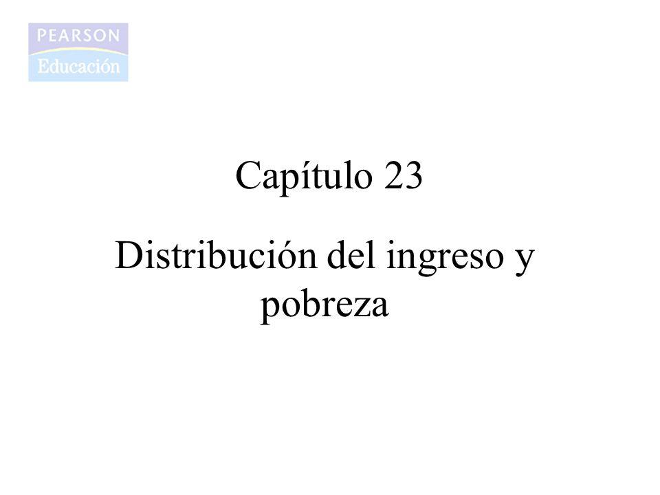 Capítulo 23 Distribución del ingreso y pobreza