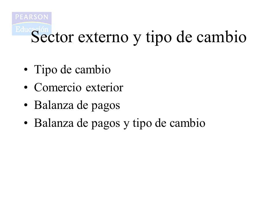 Tipo de cambio Comercio exterior Balanza de pagos Balanza de pagos y tipo de cambio