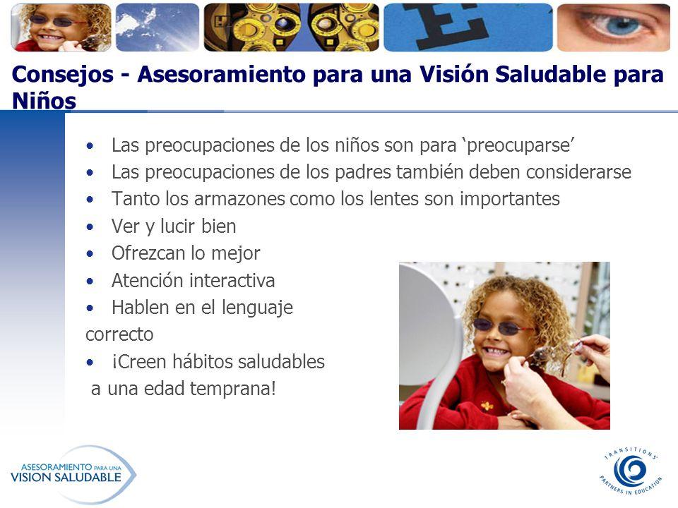 Consejos - Asesoramiento para una Visión Saludable para Niños Las preocupaciones de los niños son para preocuparse Las preocupaciones de los padres ta