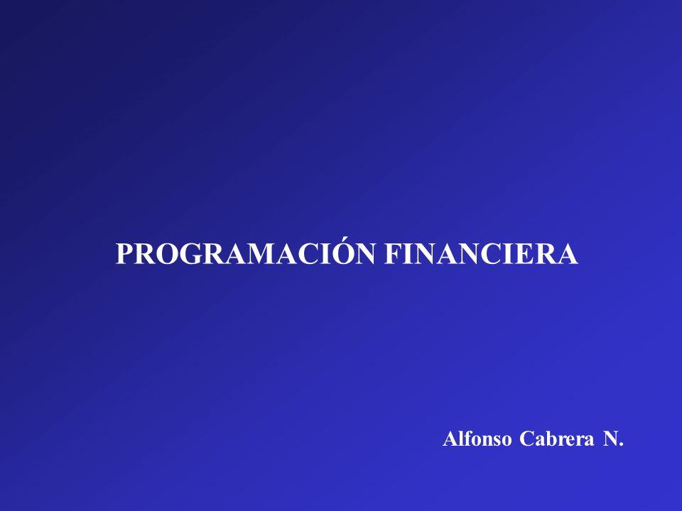 PROGRAMACIÓN FINANCIERA Alfonso Cabrera N.