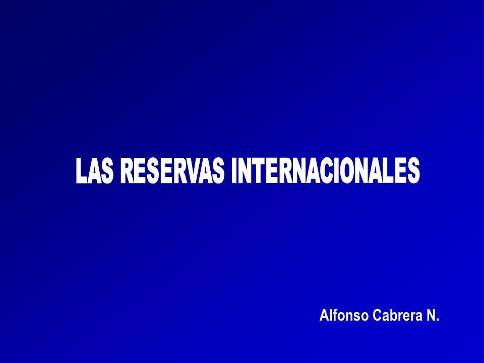 LAS RESERVAS INTERNACIONALES EN VENEZUELA EN SINTESIS CONCEPTO: Las reservas internacionales son los recursos financieros en divisas con los cuales cuenta un país para garantizar los pagos de los bienes que importa y el servicio de la deuda, así como para estabilizar la moneda.