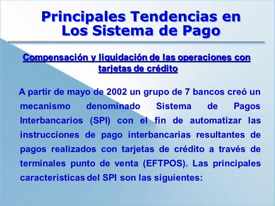 Compensación y liquidación de las operaciones con tarjetas de crédito A partir de mayo de 2002 un grupo de 7 bancos creó un mecanismo denominado Siste