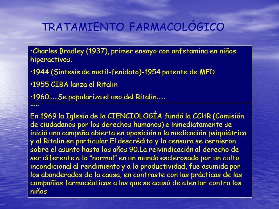 TRATAMIENTO FARMACOLÓGICO Estimulantes Estimulantes Inhibidores de la recaptación de noradrenalina Inhibidores de la recaptación de noradrenalina Bupr