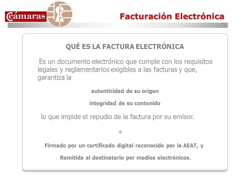 QUÉ ES LA FACTURA ELECTRÓNICA Es un documento electrónico que cumple con los requisitos legales y reglamentarios exigibles a las facturas y que, garan