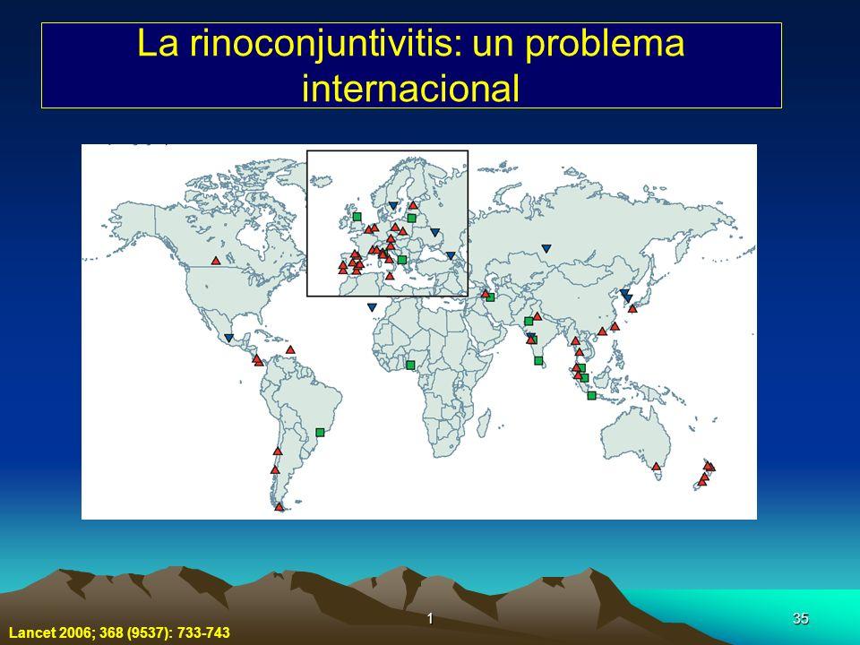 135 La rinoconjuntivitis: un problema internacional Lancet 2006; 368 (9537): 733-743