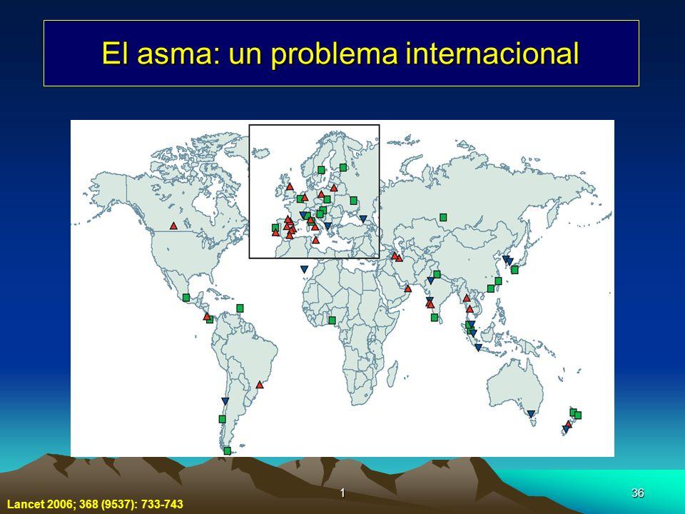 136 El asma: un problema internacional Lancet 2006; 368 (9537): 733-743
