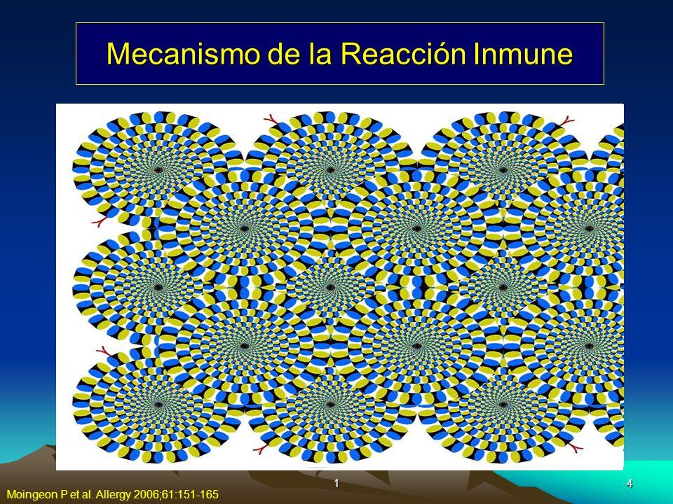 15 Mecanismos de la Reacción Inmune Moingeon P et al. Allergy 2006;61:151-165
