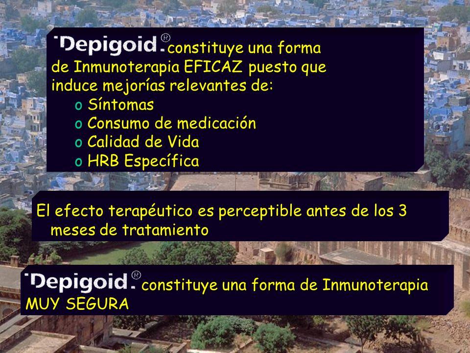 constituye una forma de Inmunoterapia EFICAZ puesto que induce mejorías relevantes de: constituye una forma de Inmunoterapia EFICAZ puesto que induce