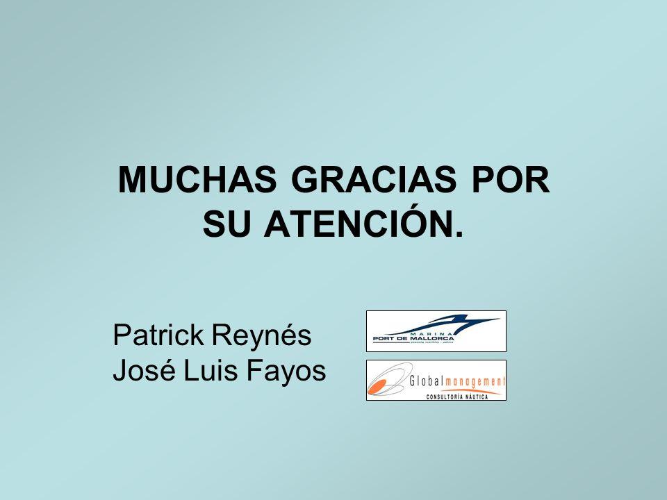 MUCHAS GRACIAS POR SU ATENCIÓN. Patrick Reynés José Luis Fayos