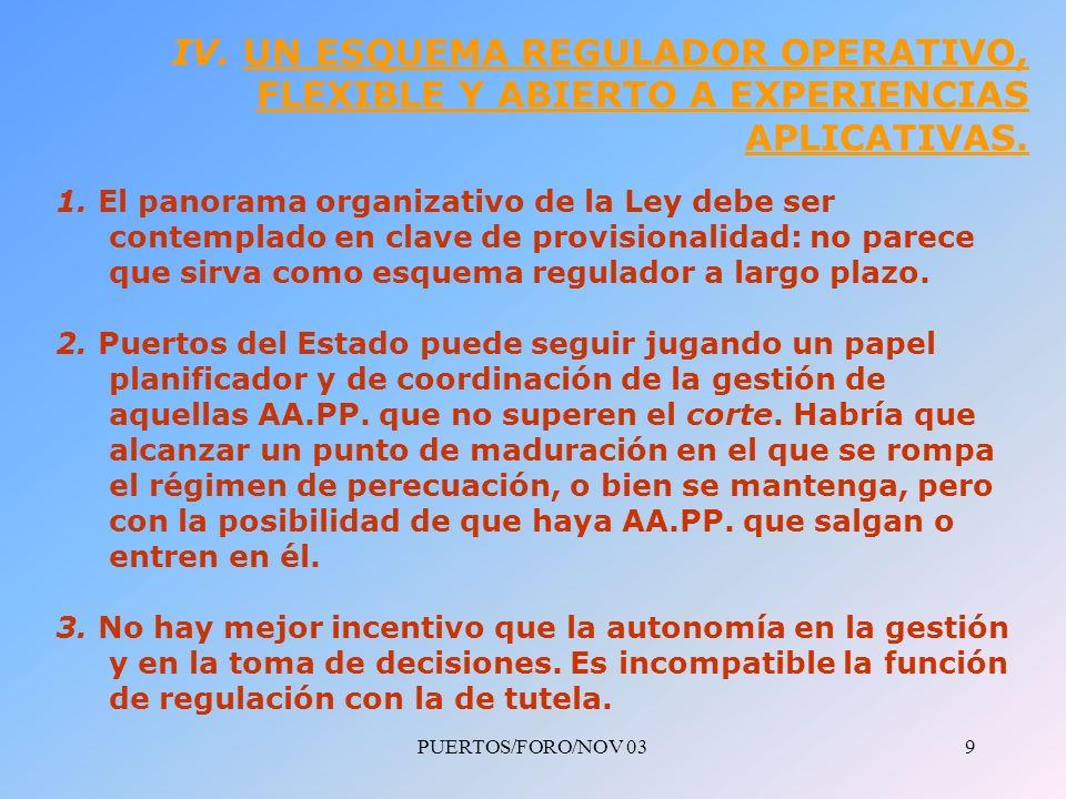 PUERTOS/FORO/NOV 0310 PROPUESTAS FINALES Y CONCLUSIONES 1.