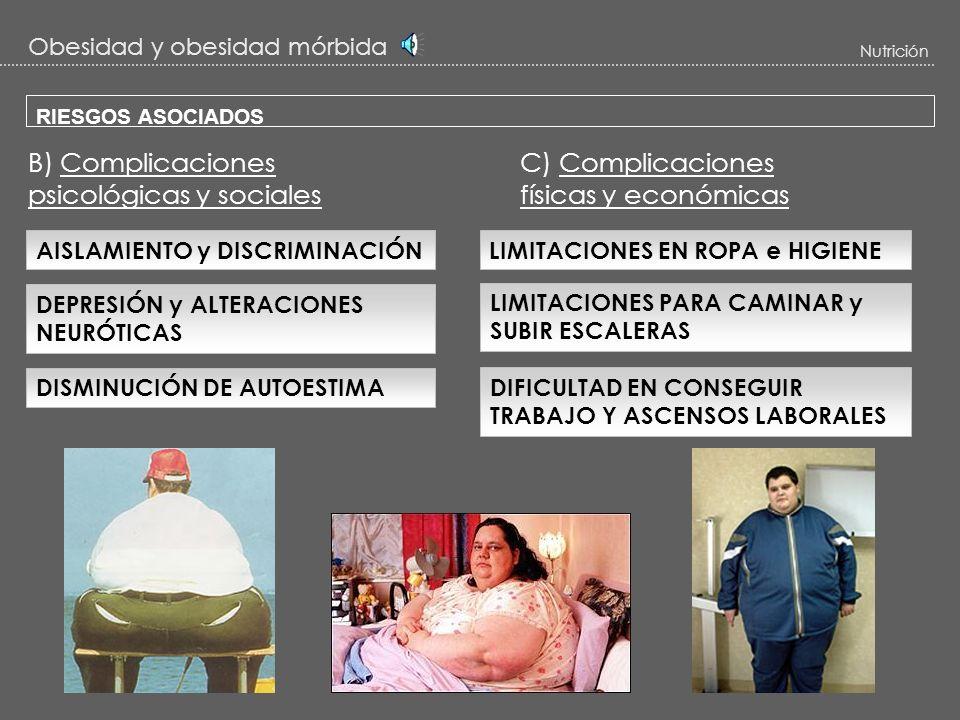 Obesidad y obesidad mórbida Nutrición RIESGOS ASOCIADOS 3 – Osteoarticulares: OSTEOARTRITIS -La frecuencia de padecer osteoartritis en O.M es del 40%.