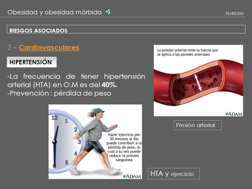 Obesidad y obesidad mórbida Nutrición RIESGOS ASOCIADOS La obesidad y sobre todo la obesidad mórbida : Problema estéticoProblema sanitario A) Complica