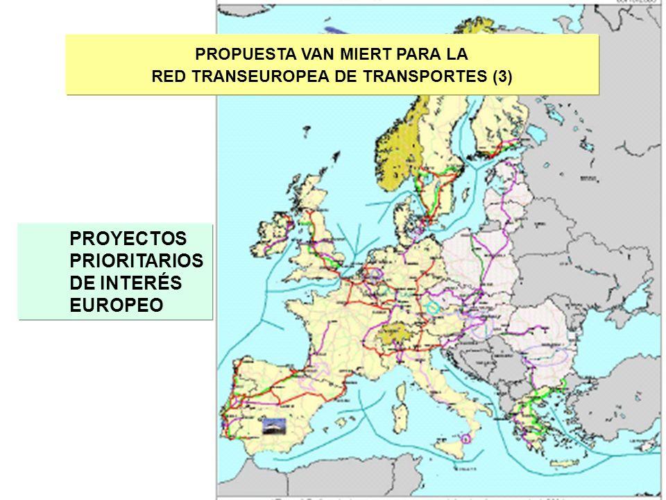 11 PROPUESTA VAN MIERT PARA LA RED TRANSEUROPEA DE TRANSPORTES (3) PROYECTOS PRIORITARIOS DE INTERÉS EUROPEO