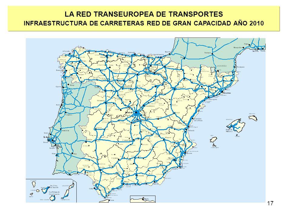 17 LA RED TRANSEUROPEA DE TRANSPORTES INFRAESTRUCTURA DE CARRETERAS RED DE GRAN CAPACIDAD AÑO 2010