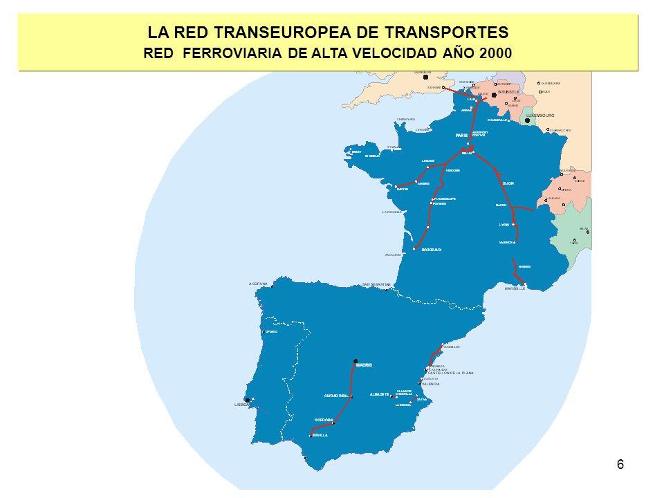6 LA RED TRANSEUROPEA DE TRANSPORTES RED FERROVIARIA DE ALTA VELOCIDAD AÑO 2000