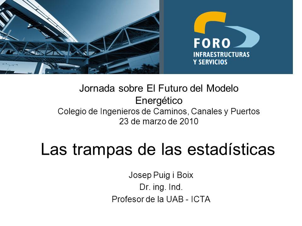 Las trampas de las estadísticas Josep Puig i Boix Dr.
