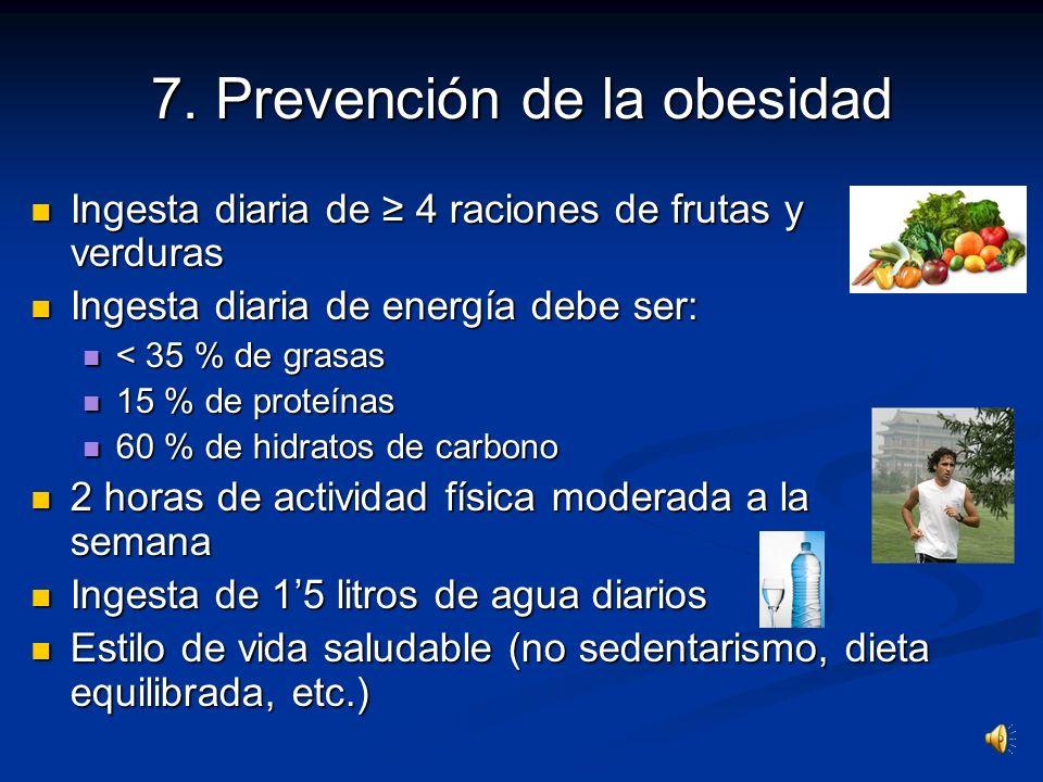 6. Factores que causan la obesidad Factores genéticos Factores genéticos Factores socio-económicos Factores socio-económicos Estilo de vida Estilo de
