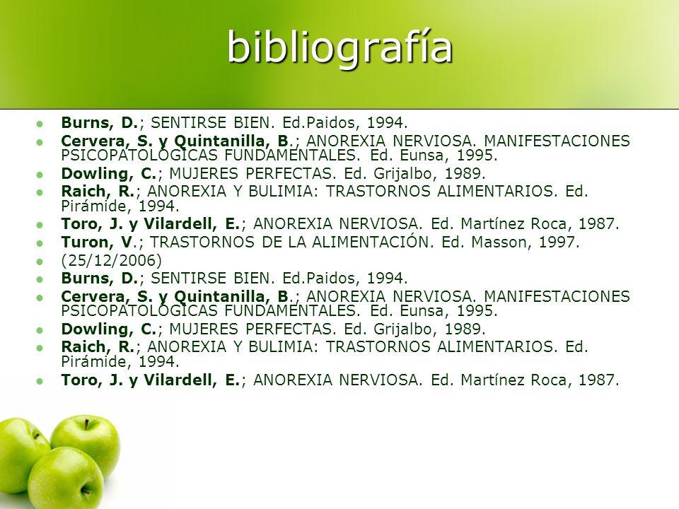 Bibliografía. http://www.cfnavarra.es/inam (20/12/2006) http://www.cfnavarra.es/inam http://geosalud.com/Nutricion/anorexia_bulimia.htm (20/12/2006) h