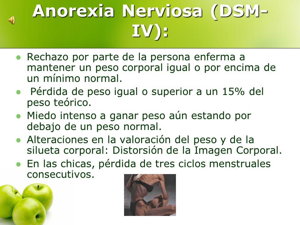 Trastornos de la alimentación Todas aquellas que se caracterizan por presentar alteraciones graves en la conducta alimentaria Anorexia nerviosa Bulimi
