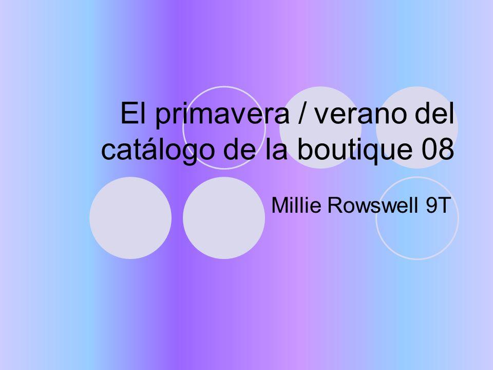 Millie Rowswell 9T El primavera / verano del catálogo de la boutique 08