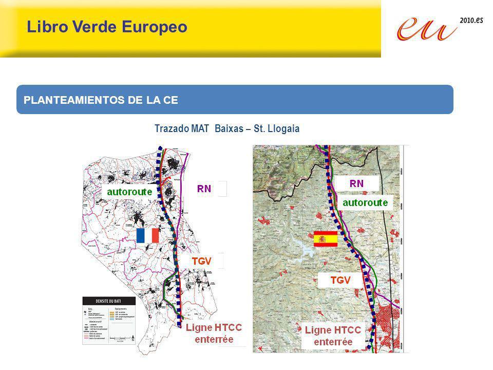 Libro Verde Europeo PLANTEAMIENTOS DE LA CE Trazado MAT Baixas – St. Llogaia