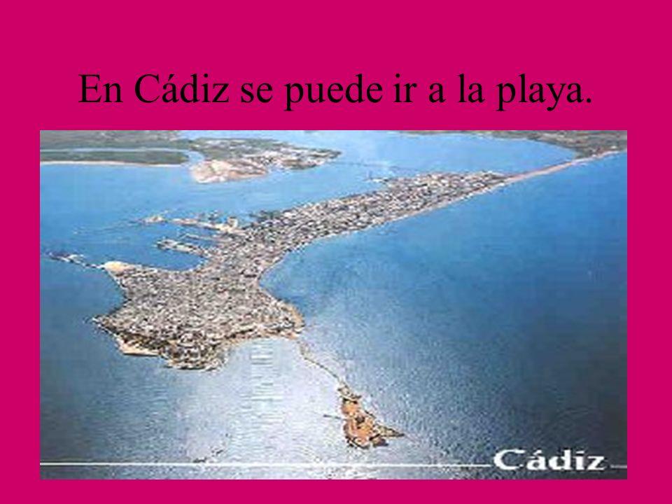 En Cádiz se puede ir a la playa.
