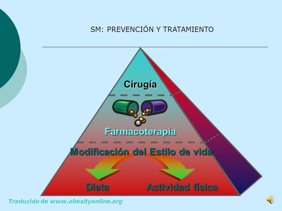 SM PREVENCIÓN Y TRATAMIENTO DIETA SALUDABLE EJERCICIO FISICO MEDIDAS FARMACOLÓGICAS