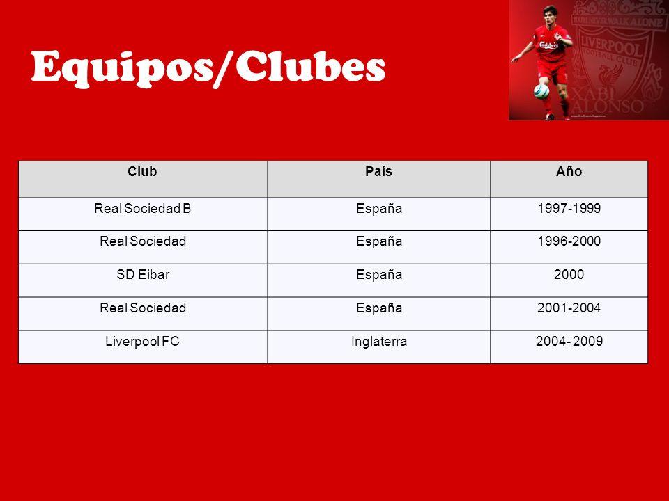 ClubPaísAño Real Sociedad BEspaña1997-1999 Real SociedadEspaña1996-2000 SD EibarEspaña2000 Real SociedadEspaña2001-2004 Liverpool FCInglaterra2004- 20